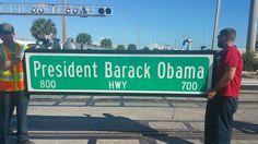 Honoring President Obama. Riviera Beach, Florida. December 2015.