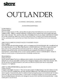 Who's who in Outlander Outlander Book Series, Outlander Tv Series, Starz Outlander, Outlander Quotes, Outlander Casting, Jaime Fraser, Diana Gabaldon Outlander Series, Outlander Season 1, Saga
