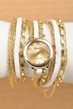 Gold Chain Wrap Watch.  $36. www.sevenandcoboutique.com