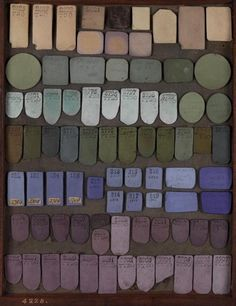 """Somehow I find myself wanting to use those indescribable colors more and more, like mauve, puce, asphaltum,"" taupe, feldgrau, basalt."" - The Ornamentalist"