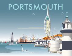 Visit Portsmouth - Official Portsmouth Tourist Information Site Paris Travel, Travel Uk, Travel Packing, Travel Guide, Minimal Travel, British Travel, Tourism Poster, Vintage Travel Posters, Poster Vintage
