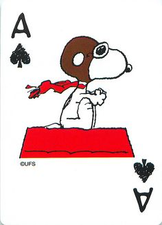 Ace of Spades - Snoopy playing cards