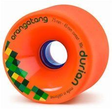 Loaded Longboards Orangatang Wheels Durian 75mm/ 80a - Orange