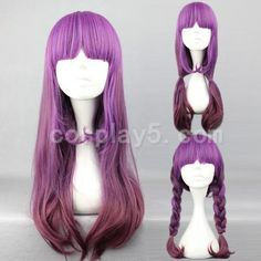 HARAJUKU lolita 60cm purple mix coffee color with bangs in a line anime cosplay costume wig hair.Free shipping on AliExpress.com. $18.88- owned    Reminds me of Azealia Banks
