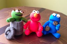 Sesame st characters jumping clay