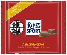 RITTER SPORT Fake Schokolade Feuerwehr