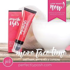 Too many late nights getting you down? Lift and brighten those peepers with our clever concoction of caffeine, cucumber, CoQ10, white tea, and other powerful ingredients that de-puff eyes and improve the appearance of dark under-eye circles.  https://perfectlyposhbyginalee.po.sh/front