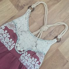 Beautiful BKE tank! Gorgeous crochet detailed top, from Buckle, but never worn, only tried on. Beautiful details. BKE Tops Tank Tops