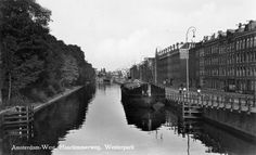1950's. Haarlemmerweg in Amsterdam. On the left Het Westerpark. #amsterdam #1950