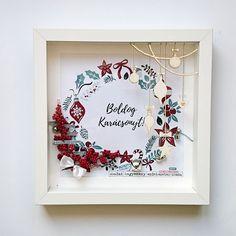 Boldog karácsonyt! képkeretben - punkrose.hu Merry christmas! homedecor, photo frame, scrapbook, gift idea