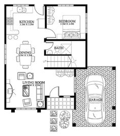 Modern house designs such as has 4 bedrooms, 2 baths and 1 garage stall. The floor plan features of this modern house design are, covered front porch, balcony over garage, walk-in clo… Small Cottage Designs, Small House Design, Modern House Design, Modern Houses, Two Storey House Plans, 2 Storey House, Home Design Plans, Plan Design, Small Modern House Plans