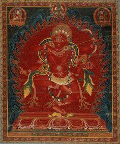 TIBET Kurukulla (Red Tara), Tantric Buddhist Goddess.  Central Tibet, circa 1500-99.  Sakya and Ngor (Sakya) Lineages.