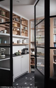 EXCLUSIVE: Bake Off fever has transcended our TV screens and is now inspiring home renovation plans in the form of 'pantry porn', according to architecture and interiors platform Houzz UK. Pantry Room, Pantry Cupboard, Pantry Storage, Walk In Pantry, Kitchen Storage, Food Storage, Storage Spaces, Kitchen Pantry Design, Home Decor Kitchen