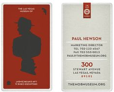 Playing card business card