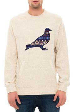 Staple Sweatshirt Beacon Pigeon Cream White - Karmaloop.com