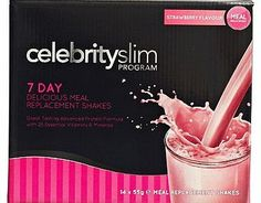 Celebrity Slim Strawberry 7 day Shake Pack - 14 96 Advantage card points. Each Celebrity Slim Meal Replacement Shake sachet contains a nutritionally balanced combination of protein, carbohydrates, fats, vitamins, minerals and soluble fibre. FREE De http://www.comparestoreprices.co.uk/weight-loss-products/celebrity-slim-strawberry-7-day-shake-pack--14.asp