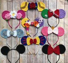 Crochet Princess Mouse Ears/ One size/ Crochet/Made to Order
