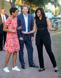 8db8f72302d5f Robin Roberts, Prince Harry, and Michelle Obama Nathan Jones, Harry  Birthday, Barack
