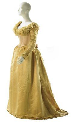 ~Worth evening dress, 1890-91  From MCNY~  #1890  #fashion #worth