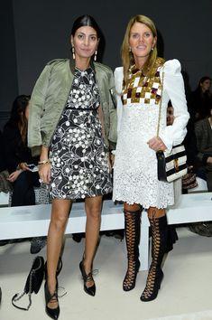 Giovanna Battaglia & Anna Dello Russo, Giambattista Valli : Front Row - Paris Fashion Week Womenswear Spring/Summer 2016