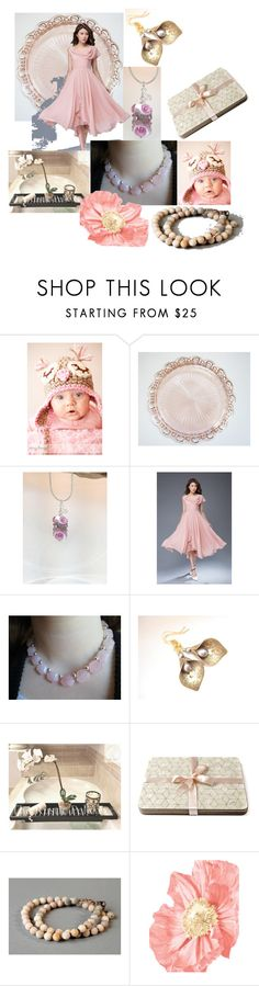 """""""Heavenly Pink"""" by inspiredbyten ❤ liked on Polyvore"""