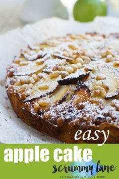 This easy apple cake (or torta di mele!) is the pride and joy of Italian nonnas everywhere. It's a real crowd pleaser and you need just 6 pantry ingredients to make it! Apple Desserts, Apple Recipes, Easy Desserts, Baking Recipes, Delicious Desserts, Cake Recipes, Dessert Recipes, Yummy Recipes, Cupcakes