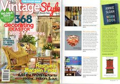 Vintage Style Magazine's Spring 2013 Edition features the Annie Sloan Work Book!