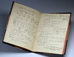 Albert Einstein, travel diary, 1922    (electromagnetism and general relativity calculations)