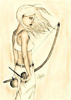 Capoeira Girl - awesome capoeira art: