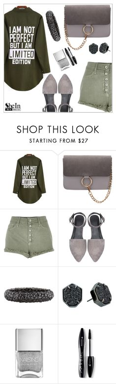 """""""Green and gray"""" by simona-altobelli ❤ liked on Polyvore featuring River Island, Lorraine Schwartz, Kendra Scott, Lancôme, women's clothing, women, female, woman, misses and juniors"""