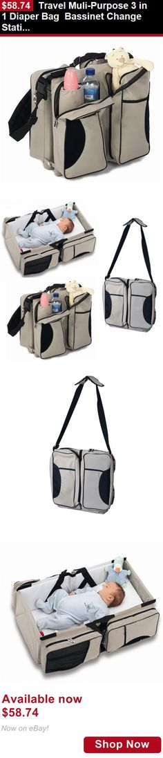 Baby Co-Sleepers: Travel Muli-Purpose 3 In 1 Diaper Bag Bassinet Change Station Baby Tote Bag Bed BUY IT NOW ONLY: $58.74