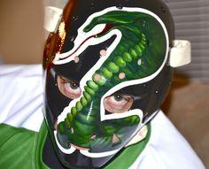 "Gary Simmons ""Snake"" mask California Golden Seals 1974-1976 Hockey Goalie, Ice Hockey, Gary Simmons, Goalie Mask, Masked Man, Seals, Nhl, Masks, Helmet"