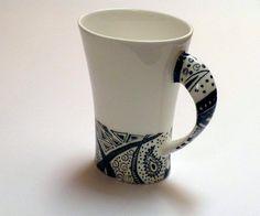 Zentangle Mug. Lovely shape and the handle.