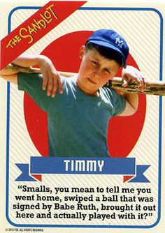 The Sandlot Anniversary Blu-ray Includes Set of Baseball Cards Sandlot 2, Sandlot Quotes, Movie Quotes, Sandlot Forever, Sandlot Characters, Movie Characters, Benny The Jet Rodriguez, Baseball Movies, Baseball Quotes