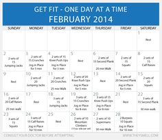 Get Fit in 2014 – Daily Beginner Workout Plan for February • Healthy Lifestyle Chicago Area Mom Blogger