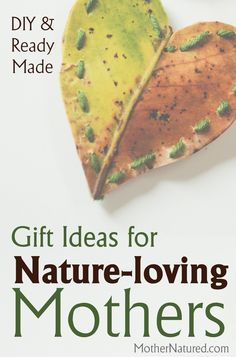 This post was written for all the mothers out there that love nature (like myself). It includes DIY and ready-made gift ideas