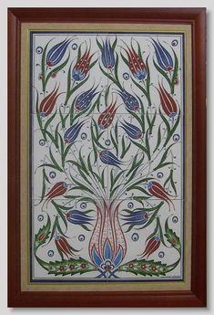 Turkish Tiles, Turkish Art, Islamic Tiles, Islamic Art, Tile Art, Mosaic Art, Ottoman Design, Easy Canvas Painting, Panel Art