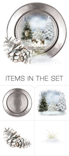 """Winter Plate"" by fm3happy ❤ liked on Polyvore featuring art"