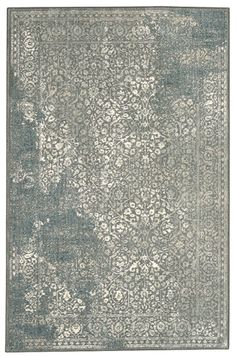 Love the distressed look on this Willow Grey rug from Karastan!