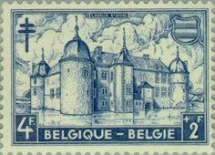 Sello: Lavaux Castle, Ste.-Anne (Bélgica) (Castles) Mi:BE 920,Sn:BE B509,Yt:BE 874,Bel:BE 874