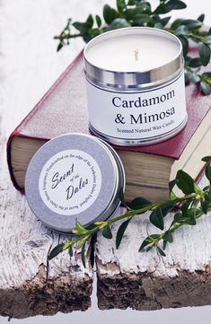 Cardamom & Mimosa   ~scented candles #candles #tin candles #travel candles #soy candles