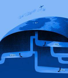 +++++++ Chris Haughton +++++++ - illustration Chris Haughton, Illustration Arte, Charts And Graphs, Central Europe, Childrens Books, Illustrators, Graphic Art, Sailing, Artwork