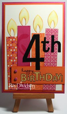 Ros Davidson, Independent Stampin' Up! demonstrator, Melbourne, Australia: Birthday candles