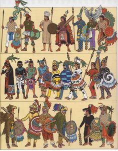 1521: Vestimentas mexicas, purepechas, tlaxcaltecas y acolhuas