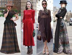 quirky modern pilgrim-style plaid dress (far left)