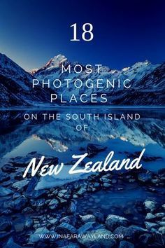 New Zealand is full of amazing photography spots. This list will help you find the best ones! #landscape #photography #newzealand
