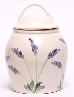 Ceramic Cookie Jar - Lavender