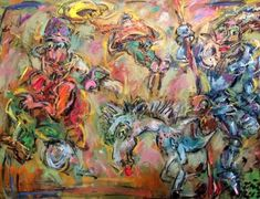 Buy Don Quijote and baron Munch., Oil painting by Toth Erno on Artfinder.