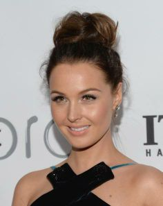Camilla Luddington attends The Annual Make-Up Artists And Hair Stylists Guild Awards. Hair by Johnny Stuntz.