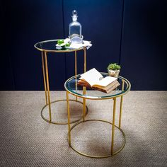 Antique Brass Small Round Table | Culinary Concepts